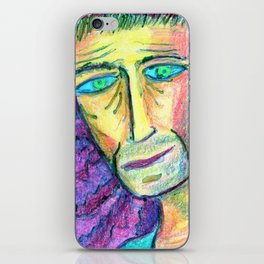 People with downcast look. iPhone Skin