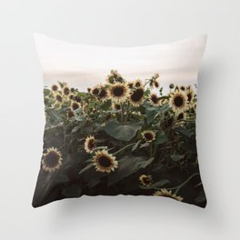 In The Sunflower Field Throw Pillow