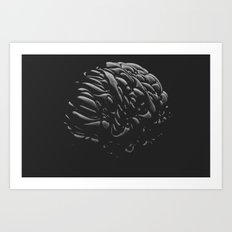 Black Brain Art Print