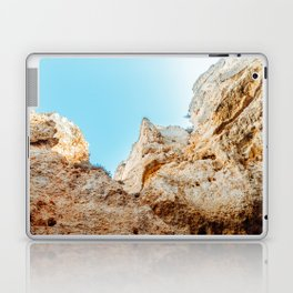 Natural Rock Formations In Lagos, Algarve Portugal, Travel Photo, Large Printable Photography Laptop & iPad Skin
