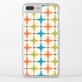 Mid Century Modern Star Pattern 821 Clear iPhone Case