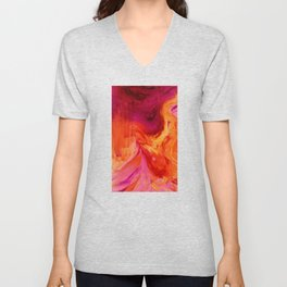 Abstract Hurricane II by Robert S. Lee Unisex V-Neck