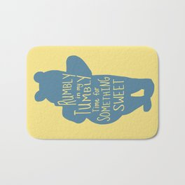 Rumbly in my Tumbly Time for Something Sweet - Pooh inspired Print Bath Mat