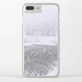 Light Snowfall Clear iPhone Case