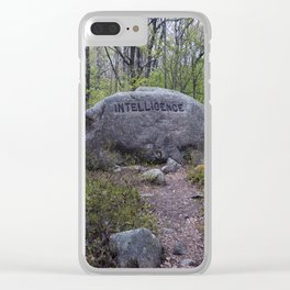 Path to Intelligence Babson Boulder #10 Intelligence Rock Clear iPhone Case
