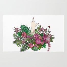 Botanical Bird Bouquet Rug