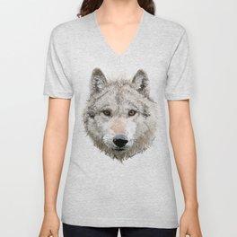 Grey Wolf Unisex V-Neck