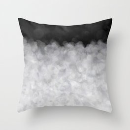Snow Clouds in the Dark - Abstract Throw Pillow