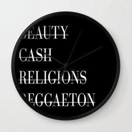 BEAUTY CASH RELIGIONS REGGAETON Wall Clock