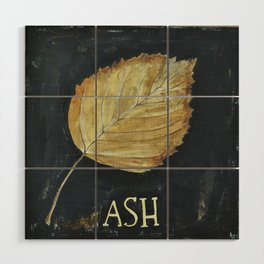 Hand-Painted Fall Ash Leaf Wood Wall Art