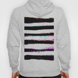 pink, green and black stripes Hoody