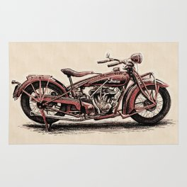 1928 Indian Scout Rug