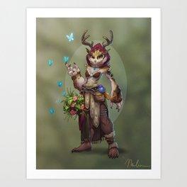 Owlbeast Druid Art Print