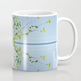Birch on blue Coffee Mug