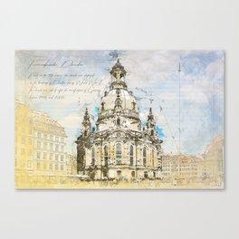 Frauenkirche, Dresden Germany Canvas Print
