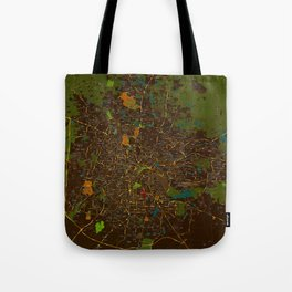 Bangalore old green map Tote Bag