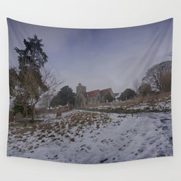 Boughton Church In Winter Wall Tapestry