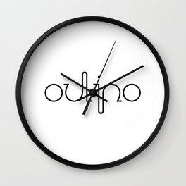 OULIPO ambigram Wall Clock