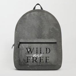 Wild and Free Silver Backpack
