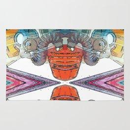 Colourful Doom Mask Rug