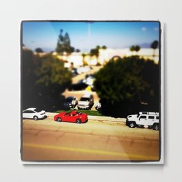 Tiny Cars Metal Print