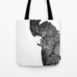 Black and White Cockatoo Illustration Tote Bag