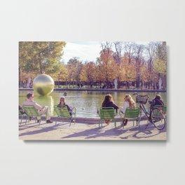 Meet me at Tuileries Metal Print