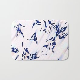 Blue Splatter Painting Pattern Bath Mat