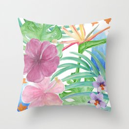 Malia's Tropical Print Throw Pillow