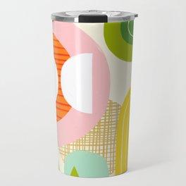 Rise and Shine - Retro Mod Abstract Design Travel Mug
