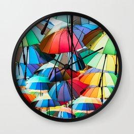 Under My Umbrellas Wall Clock