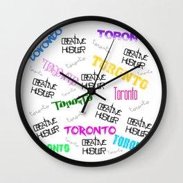 Creative Hustler Toronto(white) Wall Clock