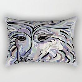 Collie in Denim Colors Rectangular Pillow