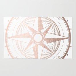 Rose Gold Compass Rug