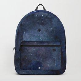 Night Sky Stars Galaxy   Watercolor Nebula Backpack