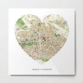 Berlin heart map Metal Print
