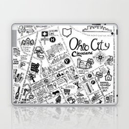 Ohio City Map Laptop & iPad Skin