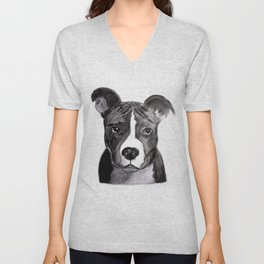 Pit Bull Dogs Lovers Unisex V-Neck