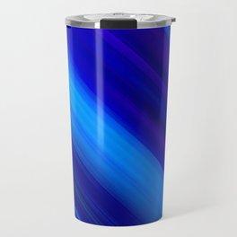 Abstract watercolor colorful lines painting Travel Mug