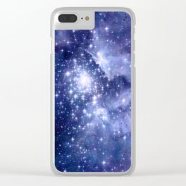 Cobalt Dreams, Universe Stars Space Nebula Clear iPhone Case