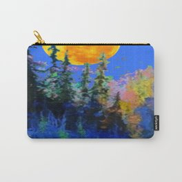 FULL MOON OVER BLUE MOUNTAIN FOREST DESIGN Carry-All Pouch