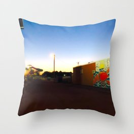 After Dark at the Waterpark Throw Pillow