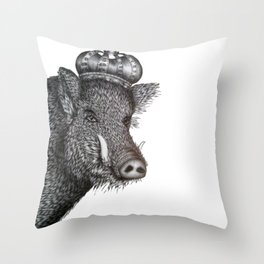 The Boar King Throw Pillow