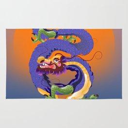 Tianjin China Dragon travel poster Rug