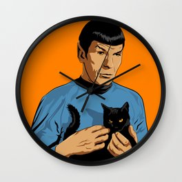 Spock's cat Wall Clock