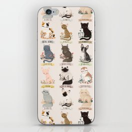 Cats Breed iPhone Skin