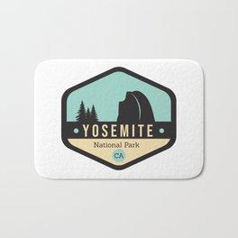 Yosemite National Parks Badge Bath Mat