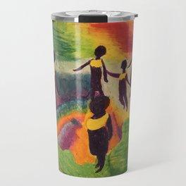 Ghana Dancers Travel Mug