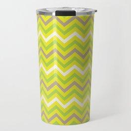 lime-brown chevron Travel Mug