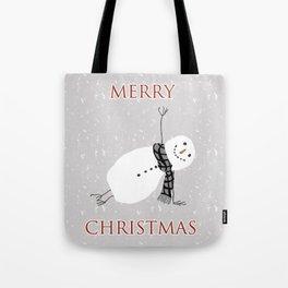 Snowman Yoga - Side Planck Tote Bag